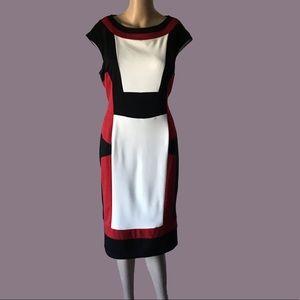 Maggy L Colorblock Dress Size 14